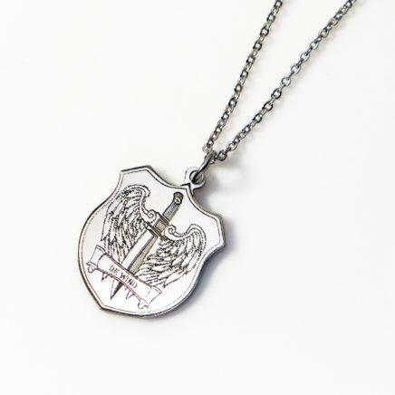 白銅雷雕項鍊
